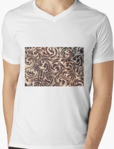 leopard fur Mens V-Neck T-Shirt