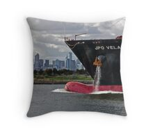 Steaming up the Yarra. Throw Pillow