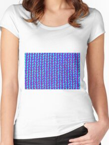knitted hand made Women's Fitted Scoop T-Shirt