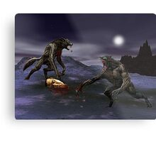 Werewolf Fight Metal Print