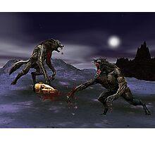 Werewolf Fight Photographic Print