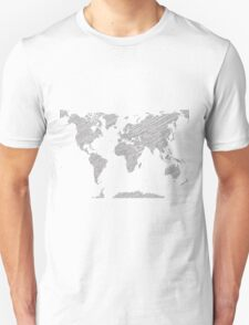 Sketchy Map of the World T-Shirt