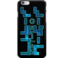 No Game No Life Logo ~ Turquoise Galay iPhone Case/Skin