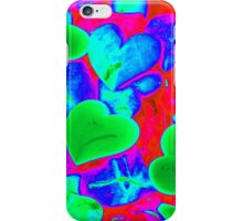 colored heart stones iPhone Case/Skin