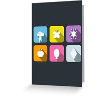 My Little Pony - Mane Six Flat Icons 2.0 Greeting Card
