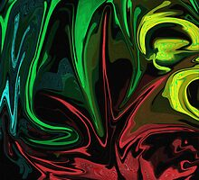 Flower Dance Abstract by kreativekate