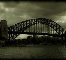 Sydney Harbour Bridge and Ferry by Andrew Wilson