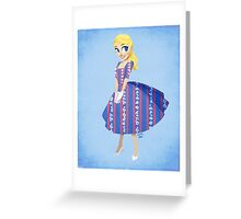 Girl of Liberty Greeting Card