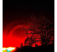Red Nimbus Photographic Print