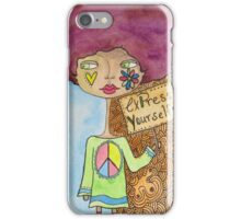Hippie Lady Expresses Herself iPhone Case/Skin