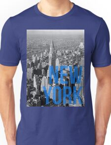 NEW YORK - Typography and cityscape Unisex T-Shirt