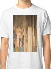 wooden background Classic T-Shirt