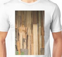 wooden background Unisex T-Shirt