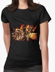 Skull Bike Womens Fitted T-Shirt