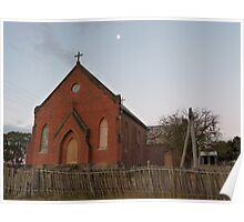 Sacred Heart Church, dusk at Hill End Poster