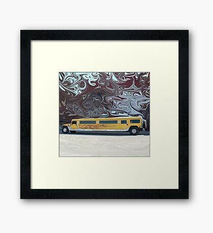 Hummer Stretch Limo Framed Print