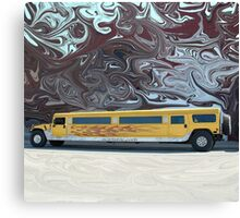 Hummer Stretch Limo Canvas Print