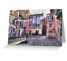 Venice washing #4 Greeting Card