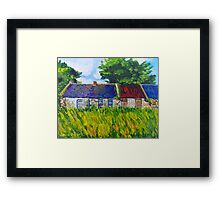 Deserted Roadside Cottages, near Downpatrick, County Down Framed Print
