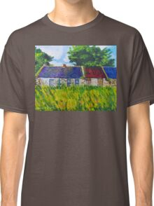 Deserted Roadside Cottages, near Downpatrick, County Down Classic T-Shirt