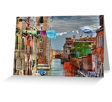 Venice washing #7 Greeting Card