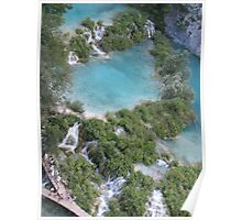 Plitvice cascades and lakes Poster