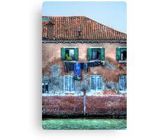 Venice washing #10 Canvas Print