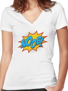 Noob ! Women's Fitted V-Neck T-Shirt