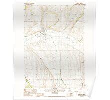 USGS Topo Map Oregon Prairie City 281164 1988 24000 Poster