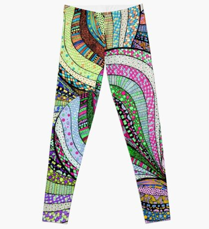 love colourful pattern illustration Leggings