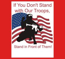American Flag- Support our Troops Kids Tee