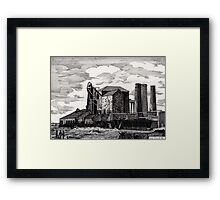 186 - NEW HARTLEY COLLIERY - DAVE EDWARDS - INK - 1991 Framed Print