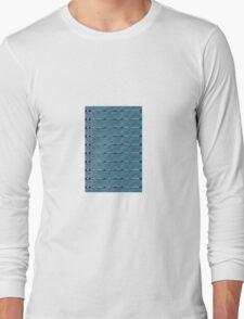 blue sea folk pattern  Long Sleeve T-Shirt