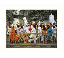 Sikh Protest 2007 Art Print
