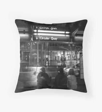 Bus Stop Throw Pillow