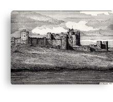 189 - ALNWICK CASTLE - DAVE EDWARDS - INK - 1991 Canvas Print