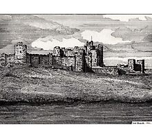 189 - ALNWICK CASTLE - DAVE EDWARDS - INK - 1991 Photographic Print