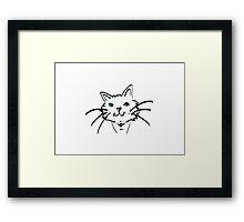 Blue-eyed Cat Framed Print