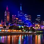 City by the Yarra - Melbourne CBD at Night by Ryan Cawse