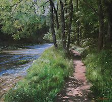 Path beside Clifty Creek by Jeff Jackson
