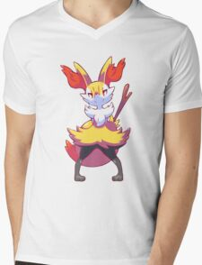 Braixen Mens V-Neck T-Shirt