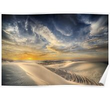 White Sands NM – Sunset Poster
