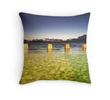 Coogee rock pool Throw Pillow