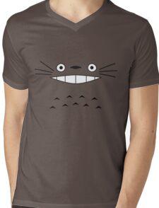 Totoro Face Mens V-Neck T-Shirt