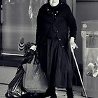 woman with cane by Karen E Camilleri