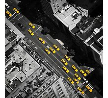 New York City, Yellow Cabs | B/W Photographic Print