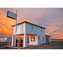 Amarillo by Morning - Route 66 Sunset Photographic Print