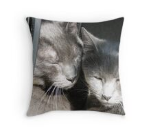 Loving Wolves Throw Pillow