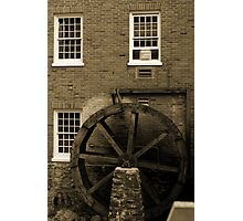 Wooden Water Wheel Historic Building Photographic Print