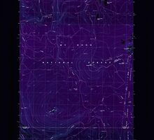 USGS Topo Map Oregon Pinhead Buttes 281099 1986 24000 Inverted by wetdryvac